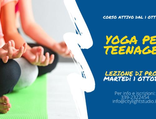 Yoga per Teenager – Lezione di prova 1 Ottobre 2019