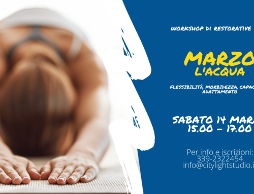 Workshop Restorative Yoga – L'Elemento Acqua e l'Adattabilità