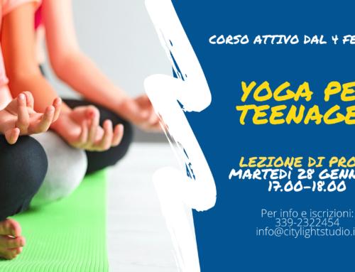 Yoga per Teenager – Lezione di prova gratuita 28.01.2020